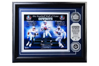 Dallas Cowboys Michael Irvin, Troy Aikman and Emmitt Smith 2pc Silver Coin Photo Mint LE