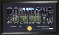 Dallas Cowboys Silhouette Bronze Coin Panoramic Photo Mint