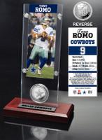 Tony Romo Ticket & Minted Coin Acrylic Desk Top