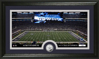 Dallas Cowboys Stadium Minted Coin Panoramic Photo Mint