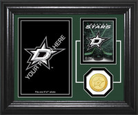Dallas Stars Fan Memories Bronze Coin Desktop Photo Mint