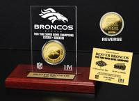 Denver Broncos 2x SB Champs Etched Acrylic