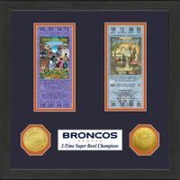 Denver Broncos SB Championship Ticket Collection