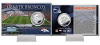 Denver Broncos Silver Coin Card