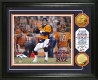 Peyton Manning 2013 NFL MVP Gold Coin Photo Mint