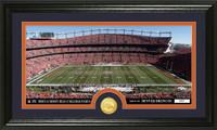 Denver Broncos Stadium Bronze Coin Panoramic Photo Mint