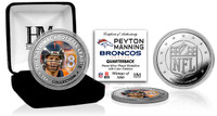 Peyton Manning Silver Color Coin