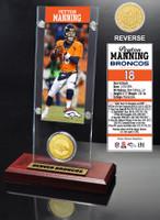 Peyton Manning Ticket & Bronze Coin Acrylic Desk Top