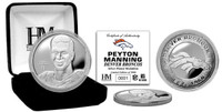Peyton Manning Broncos Silver Plated Coin