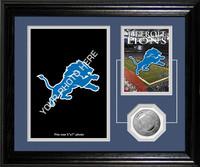 Detroit Lions Framed Memories Desktop Photo Mint