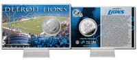 Detroit Lions Silver Coin Card