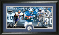 Barry Sanders Minted Coin Panoramic Photo Mint