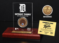 Comerica Park Infield Dirt Coin Etched Acrylic