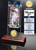 Justin Verlander Ticket & Bronze Coin Desk Top Acrylic
