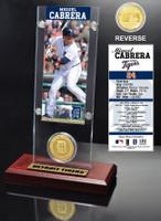Miguel Cabrera Ticket & Bronze Coin Acrylic Desk Top