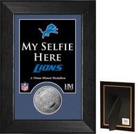 Detroit Lions Selfie Minted Coin Mini Mint