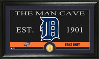 Detroit Tigers The Man Cave Bronze Coin Panoramic Photo Mint