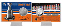Edmonton Oilers Stanley Cup History Silver Coin Card