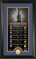 Edmonton Oilers Legacy Supreme Bronze Coin Panoramic Photo Mint