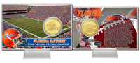 University of Florida 3-Time National Champions Bronze Coin Card