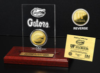 University of Florida 24KT Gold Coin Etched Acrylic
