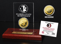 Florida State University 24KT Gold Coin Etched Acrylic