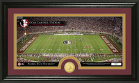 Florida State University Stadium Bronze Coin Panoramic Photo Mint