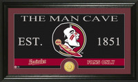Florida State University Man Cave Bronze Coin Panoramic Photo Mint