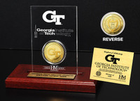 Georgia Tech University 24KT Gold Coin Etched Acrylic