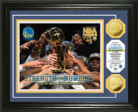 "Golden State Warriors 2015 NBA Finals Champions ""Strength in Numbers"" Gold Coin Photo Mint"
