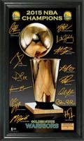 Golden State Warriors 2015 NBA Finals Champions Trophy Signature Photo
