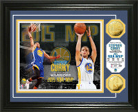 Stephen Curry 2015 NBA MVP Gold Coin Photo Mint