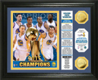 Golden State Warriors 2015 NBA Finals Champions Banner Gold Coin Photo Mint