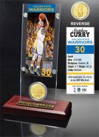 Stephan Curry Ticket & Bronze Coin Acrylic Desk Top