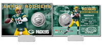 Aaron Rodgers Silver Coin Card