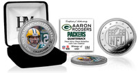 Aaron Rodgers Silver Color Coin
