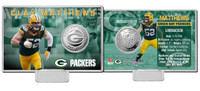 Clay Matthews Silver Coin Card