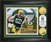Clay Matthews Gold Coin Photo Mint