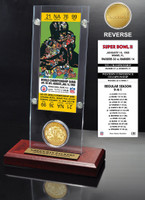 Super Bowl 2 Ticket & Game Coin Collection