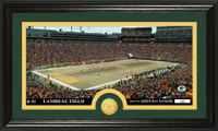 Green Bay Packers Stadium Bronze Coin Panoramic Photo Mint