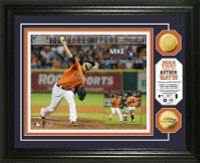 Mike Fiers No-Hitter Gold Coin Photo Mint
