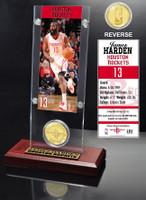 James Harden Ticket & Bronze Coin Acrylic Desk Top