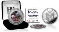 J.J. Watt Silver Color Coin