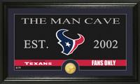 Houston Texans Man Cave Bronze Coin Panoramic Photo Mint