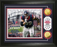 J.J. Watt 2014 NFL Defensive Player of the Year Gold Coin Photo Mint