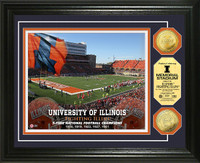 University of Illinois Stadium Gold Coin Photo Mint