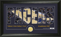 """Indiana Pacers """"Silhouette"""" Bronze Coin Photo Mint"""