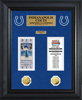 Indianapolis Colts Super Bowl Ticket and Game Coin Collection Framed