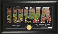 University of Iowa Silhouette Bronze Coin Panoramic Photo Mint