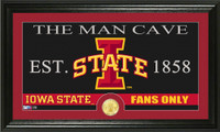 Iowa State University Man Cave Bronze Coin Panoramic Photo Mint
